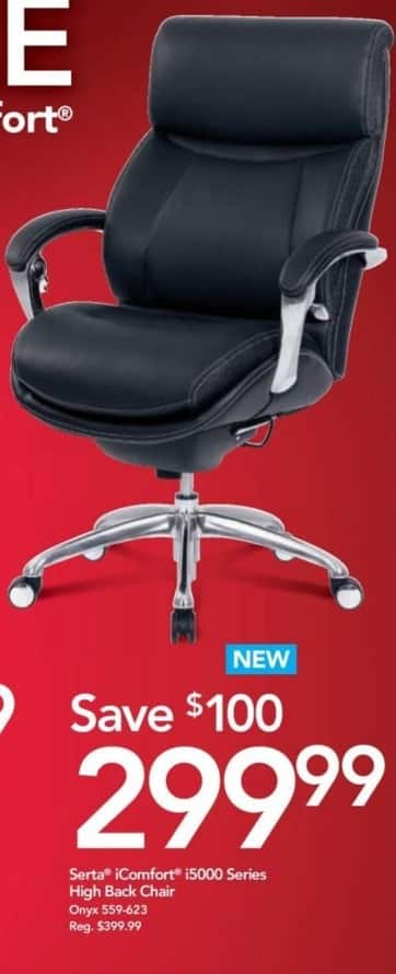 Office Depot and OfficeMax Black Friday: Serta IComfort i5000 Series High Back Chair for $299.99
