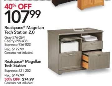 Office Depot and OfficeMax Black Friday: Realspace Magellan Tech Station 2.0 for $107.99