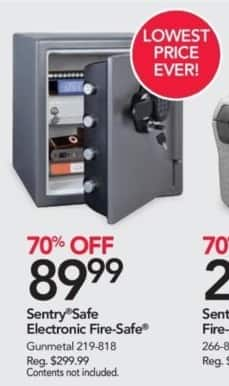 Office Depot and OfficeMax Black Friday: Sentry Safe Electronic Fire-Safe for $89.99