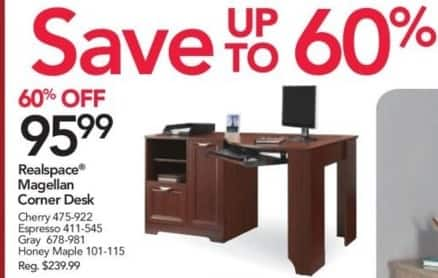 Office Depot And Officemax Black Friday Realspace Magellan Corner