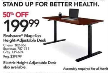 Office Depot And OfficeMax Black Friday Realspace Magellan Height - Office max conference table