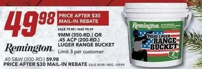 Field & Stream Black Friday: Remington 9MM 350-Rd. for $49.98 after $30.00 rebate