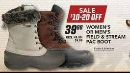 Field & Stream Black Friday: Field & Stream Women's Pac Boot for $39.98