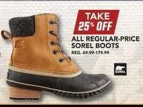 Field & Stream Black Friday: All Regular-Priced Sorel Boots - 25% OFF