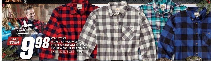 Field & Stream Black Friday: Field & Stream en's Classic Lightweight Flannels for $9.98