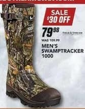 Field & Stream Black Friday: Field & Stream Men's Swamptracker 1000 Boot for $79.98