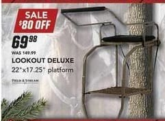 Field & Stream Black Friday: Field & Stream 22''x 17.25'' Platform Lookout Deluxe for $69.98