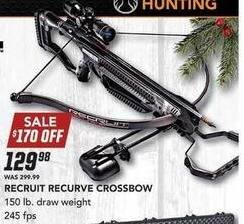 Field & Stream Black Friday: Recruit Recurve Crossbow for $129.98