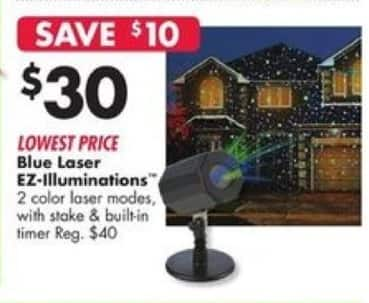 Big Lots Black Friday: Blue Laser EZ-Illuminations for $30.00