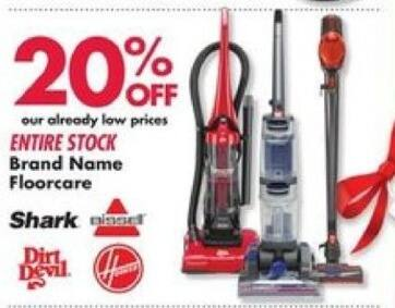Big Lots Black Friday: Shark, Bissell & More Brand Name Floorcare - 20% OFF