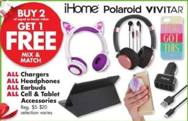 Big Lots Black Friday: All Chargers, Earbuds, Headphones, Cell & Tablet Accessories B2G1 Free - B2G1