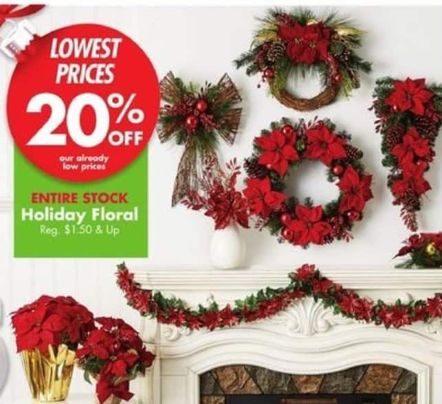 Big Lots Black Friday: Holiday Floral - 20% OFF