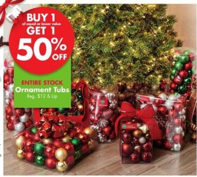 Big Lots Black Friday: Ornament Tubs - 50% OFF