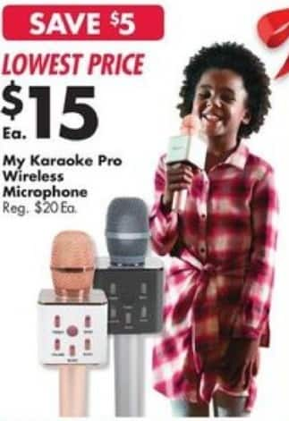 Big Lots Black Friday: My Karaoke Pro Wireless Microphone for $15.00