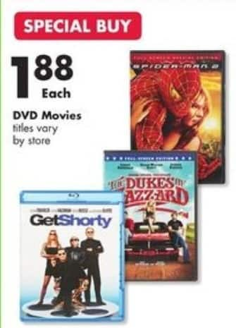 Big Lots Black Friday: Get Shorty, Spiderman 2 & More DVD Movies for $1.88
