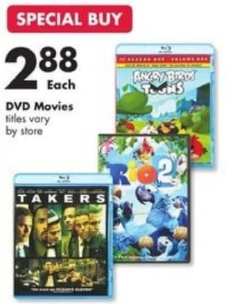 Big Lots Black Friday: Takers, Rio 2 & More DVD Movies for $2.88