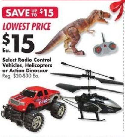 Big Lots Black Friday: Radio Control Action Dinosaur for $15.00
