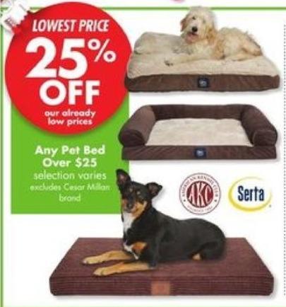 Big Lots Black Friday: Serta Pet Bed - 25% OFF