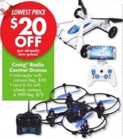 Big Lots Black Friday: Craig Radio Control Drones - $20 Off