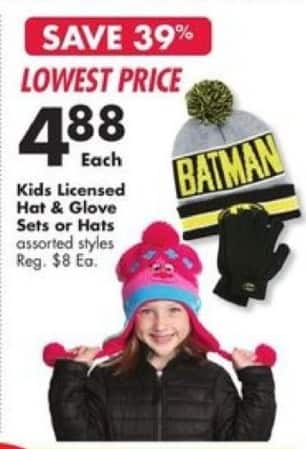 Big Lots Black Friday: Kids Licensed Hat & Glove Sets for $4.88