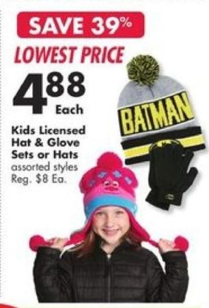 Big Lots Black Friday: Kids Licensed Hats for $4.88