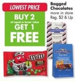 Big Lots Black Friday: M&Ms, Chirardelli & More Bagged Chocolates - B2G1