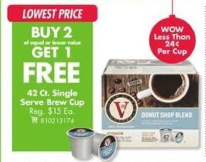 Big Lots Black Friday: Single Serve 42 Ct. Brew Cup - B2G1
