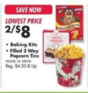 Big Lots Black Friday: (2) Filled 3 Way Popcorn Tins for $8.00