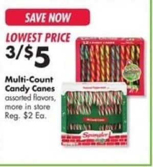 Big Lots Black Friday: (3) Multi-Count Candy Canes for $5.00