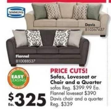 Big Lots Black Friday: Simmons Sofas for $325.00