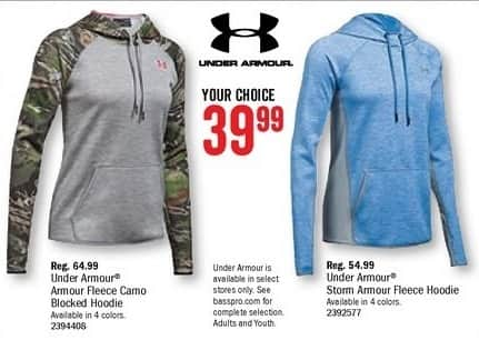 Bass Pro Shops Black Friday: Under Armour Fleece Camo Blocked Hoodie for $39.99