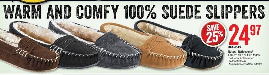 Bass Pro Shops Black Friday: Natural Reflections Ladies Allie Slippers for $24.97