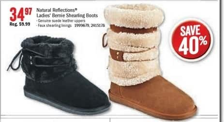 Bass Pro Shops Black Friday: Natural Reflections Ladies' Bernie Shearling Boots for $34.97