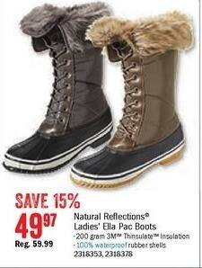 Bass Pro Shops Black Friday: Natural Reflections Ladies' Ella Insulated Pac Boots for $49.97