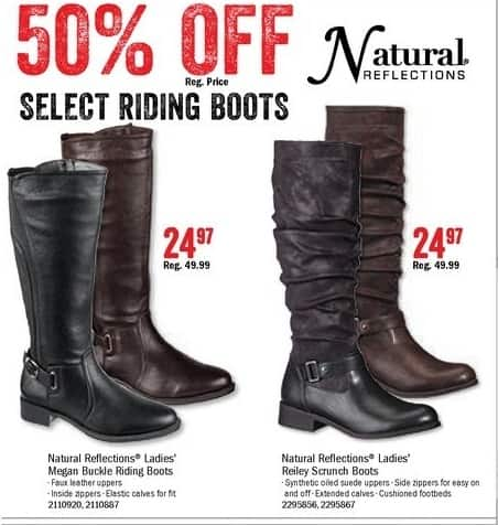 Bass Pro Shops Black Friday: Natural Reflections Ladies' Megan Buckle Boots for $24.97