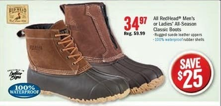 Bass Pro Shops Black Friday: Redhead Mens All Season Classic Boots for $34.97