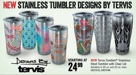 Bass Pro Shops Black Friday: Tervis Tumbler 20-oz. Stainless Steel Tumbler w/ Clear Lid for $24.99