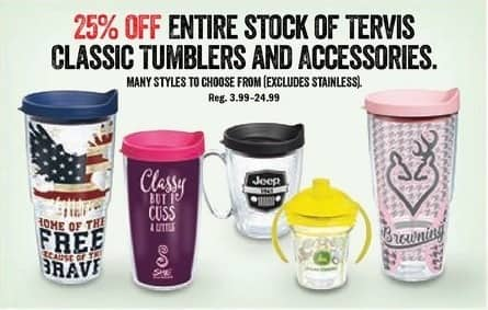 Bass Pro Shops Black Friday: Tervis Classic Tumblers - 25% OFF