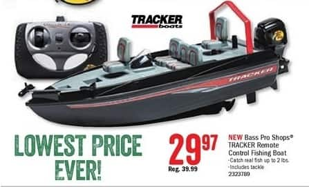 Bass Pro Shops Black Friday: Bass Pro Shops Tracker Remote Control Fishing Boat for $29.97
