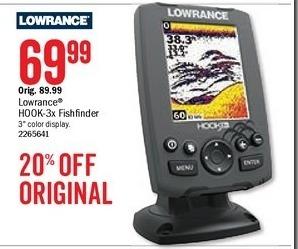 Bass Pro Shops Black Friday: Lowrance Hook-3x Fishfinder for $69.99