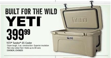 Bass Pro Shops Black Friday: YETI Tundra 65 Cooler for $399.99