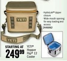 Bass Pro Shops Black Friday: Yeti Hopper Flip 12 Cooler for $249.99