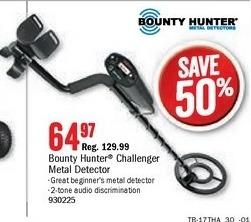 Bass Pro Shops Black Friday: Bounty Hunter Challenger Metal Detector for $64.97