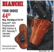 Bass Pro Shops Black Friday: Bianchi 57 Remedy CCW Handgun Holster for $44.97