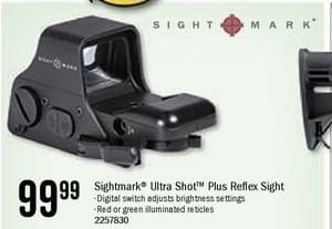 Bass Pro Shops Black Friday: Sightmark Ultra Shot Plus Reflex Sight for $99.99