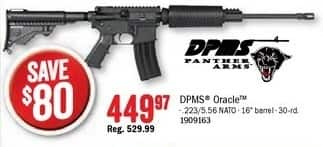 Bass Pro Shops Black Friday: DPMS Panther Arms Oracle NATO Rifle for $449.97