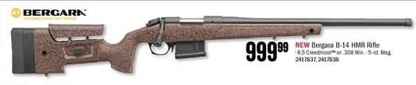 Bass Pro Shops Black Friday: Bergara B-14 HMR 6.5 Creedmoor Rifle for $999.99