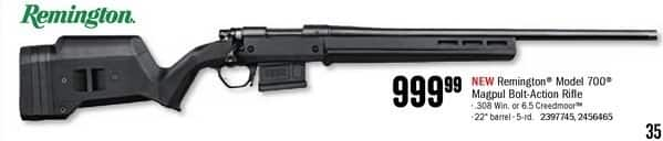 Bass Pro Shops Black Friday: Remington Model 700 Magpul 6.5 Creedmoor Bolt-Action Rifle for $999.99