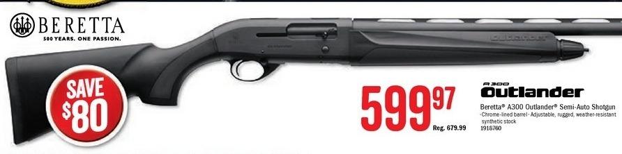 Bass Pro Shops Black Friday: Beretta A300 Outlander Semi-Auto Shotgun for $599.97