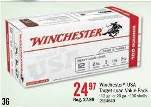 Bass Pro Shops Black Friday: Winchester USA Target Load Shotshell Ammo Value Pack for $24.97